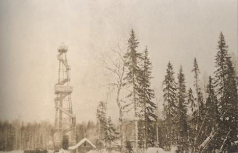 Нефтяные вышки, г. Ухта. 1960-е годы